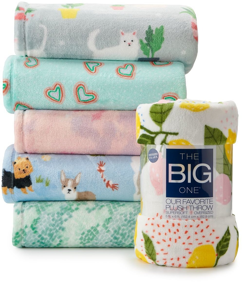 The Big One® Oversized Supersoft Plush Throw (6 Options)