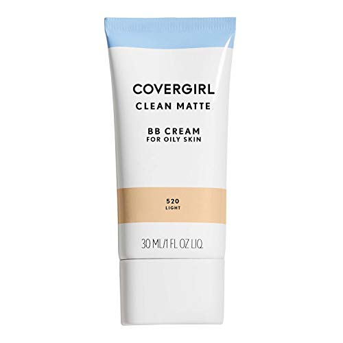 (Amazon) COVERGIRL Clean Matte BB Cream Light 520 For Oily Skin, (packaging may vary) – 1 Fl Oz (1 Count)
