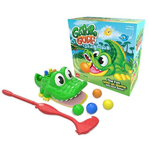 (Amazon) Gator Golf – Putt The Ball into The Gator's Mouth to Score Game by Goliath