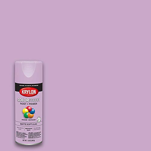 (Amazon) Krylon K05602007 COLORmaxx Spray Paint and Primer for Indoor/Outdoor Use, Matte Soft Lilac