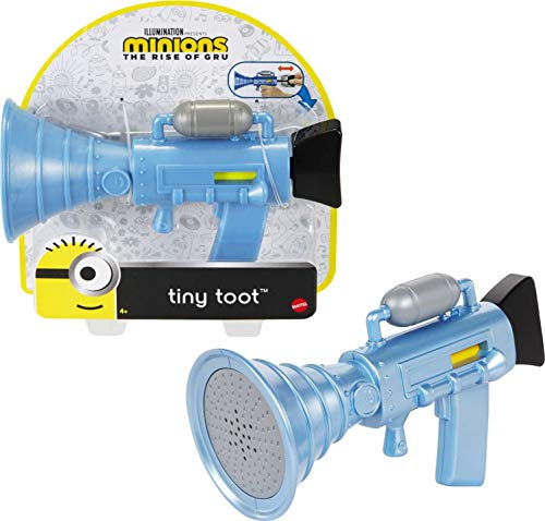 (Amazon) Minions: Tiny Toot Small Fart Firing Blaster Toy with Toot Sound for Fun On-The-Go, Makes a Great Gift for Kids Ages 4 Years and Older.