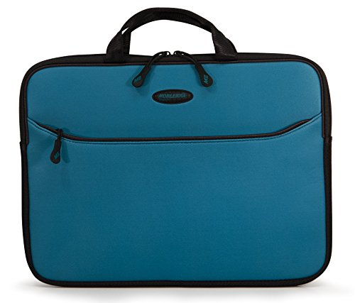 (Amazon) Mobile Edge SlipSuit, Cushioned EVA Laptop Sleeve w/Handle, 14 Inch Screens, Large Zippered Exterior Pocket, Water-Resistant, Teal MESS9-14