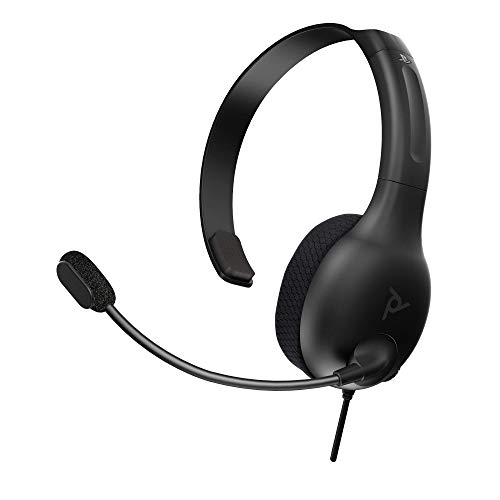 (Amazon) PDP Gaming LVL30 Wired Chat Headset With Noise Cancelling Microphone: Black – PS5/PS4