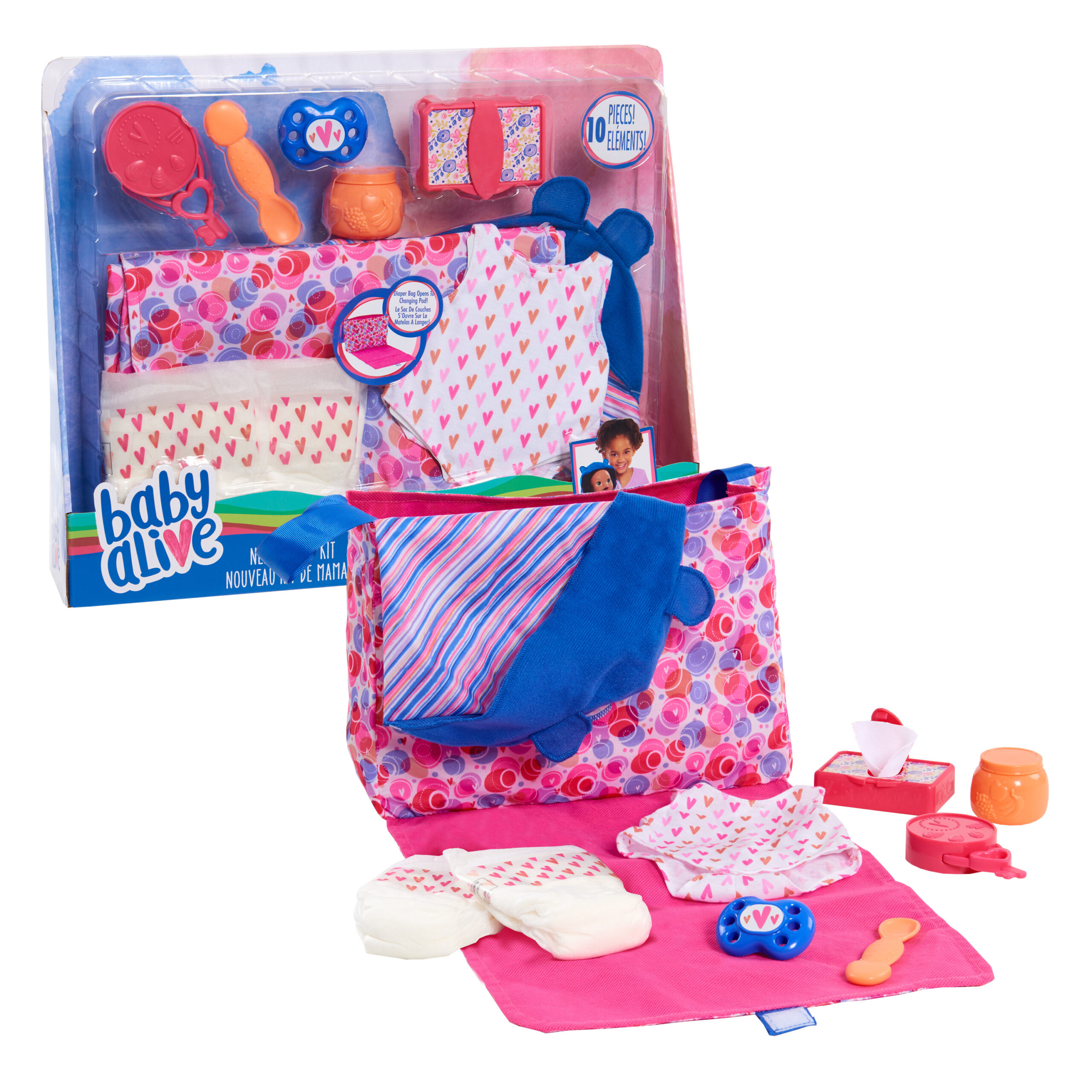 Baby Alive New Mommy Kit, Doll Accessories, Ages 3 Up, by Just Play (Walmart)