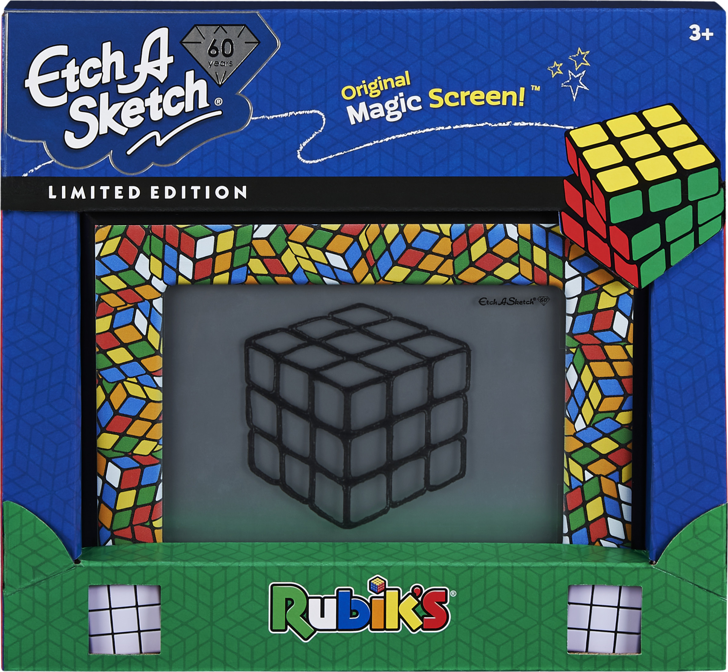 Etch A Sketch Classic, Rubik's Cube Limited-Edition Drawing Toy with Magic Screen, for Ages 3 and Up (Walmart)