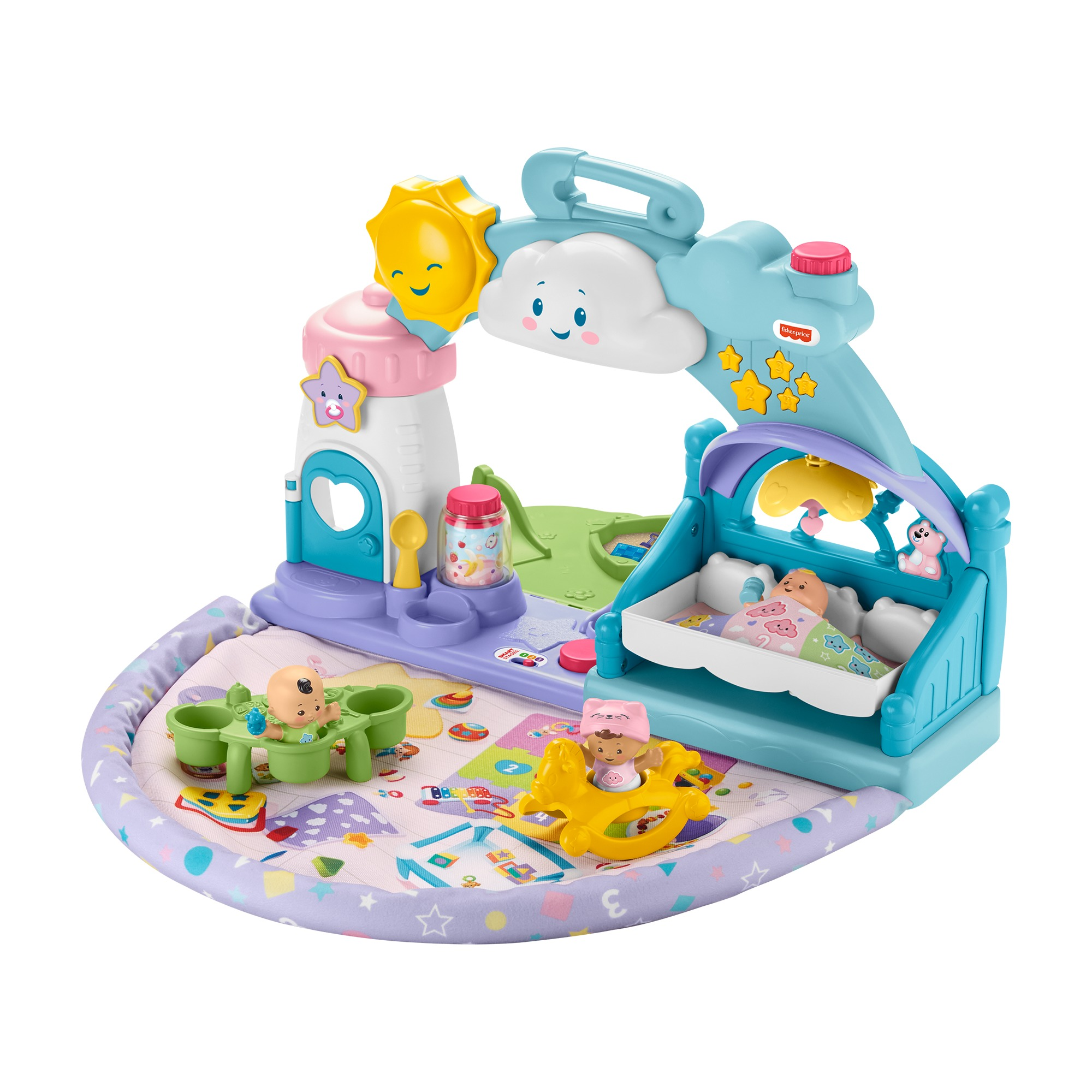 Fisher-Price Little People 1-2-3 Babies Playdate Musical Playset with 3 Multi-color Baby Dolls (Walmart)
