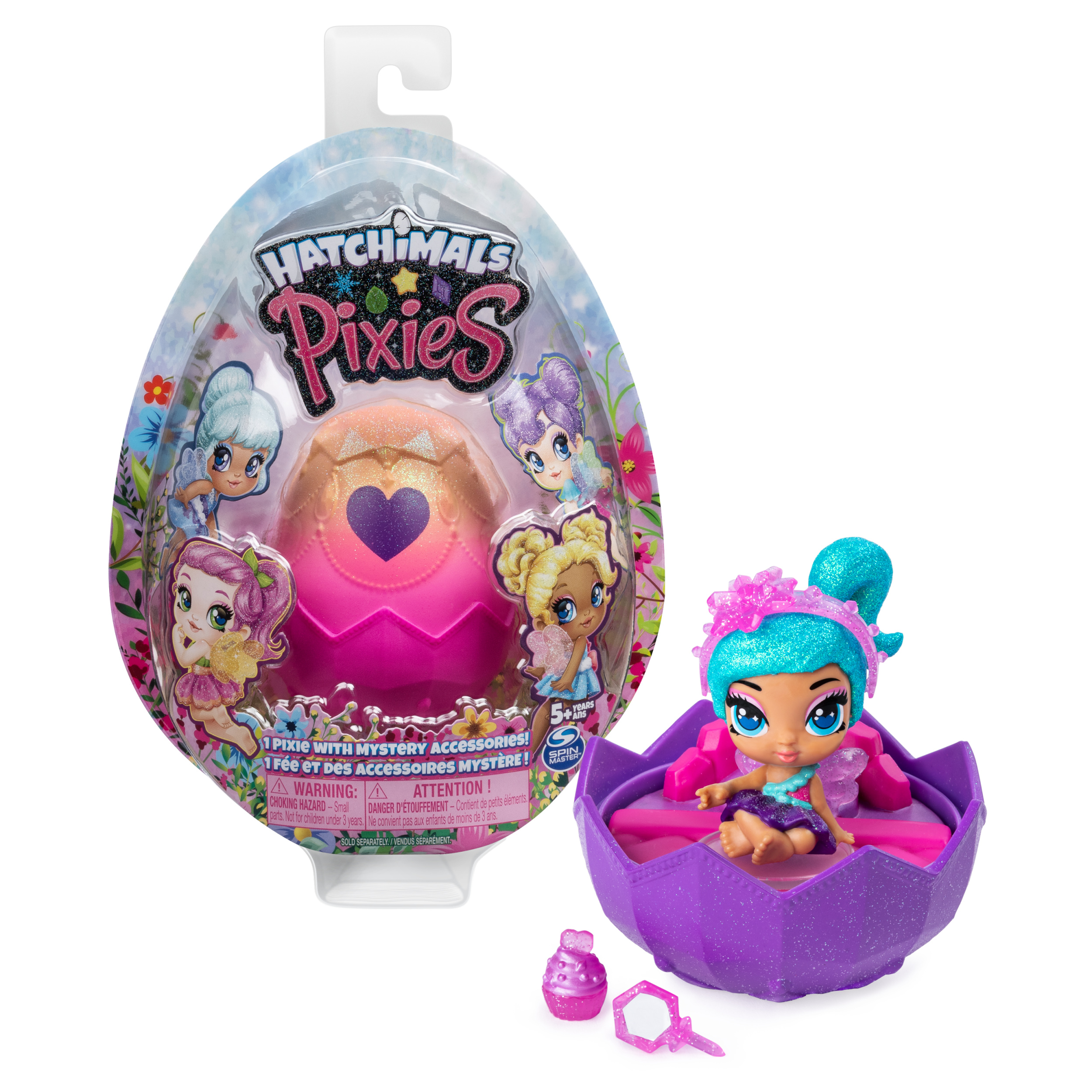 Hatchimals Pixies, 2.5-Inch Collectible Doll and Accessories (Styles May Vary), for Kids Aged 5 and Up (Walmart)