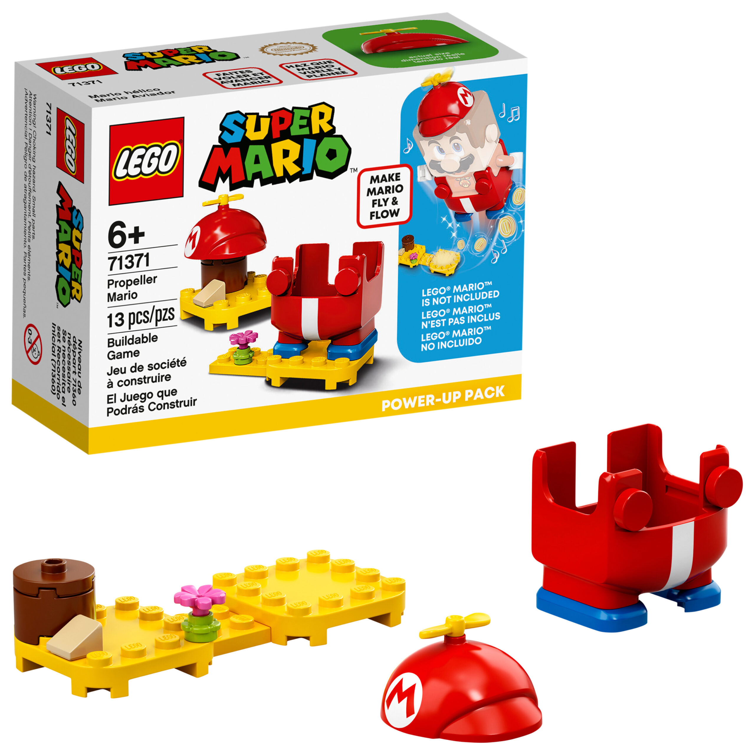LEGO Super Mario Propeller Mario Power-Up Pack 71371 Collectible Figure Toy Accessory for Kids (13 Pieces) (Walmart)