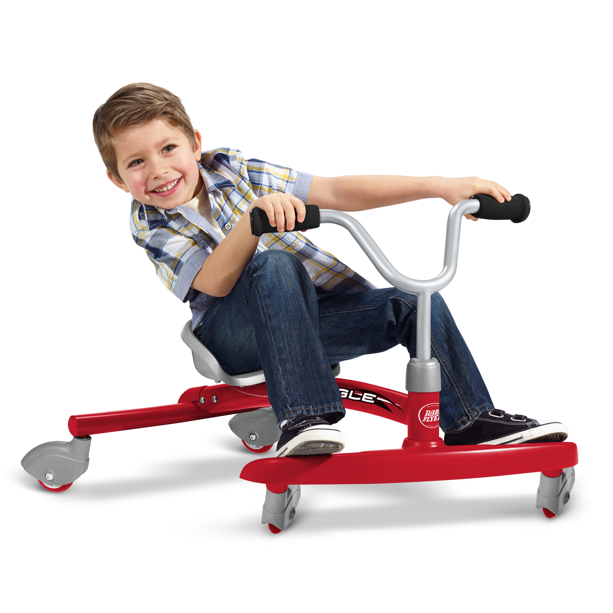 Radio Flyer, Ziggle, Caster Ride-on for Kids, 360 Degree Spins, Red (Walmart)