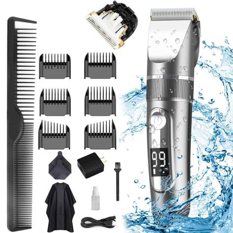 15 Pcs Waterproof Hair Clippers Set for Men for $14.99 (Reg. $29.99)