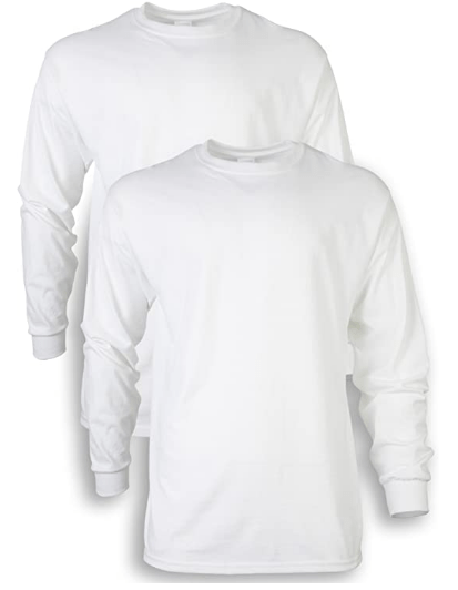 Amazon: 2-Pack Men's Long Sleeve T-Shirt for only $7.99