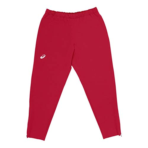 (Amazon) ASICS Team Woven Track Bottom, Team Red, x Large Tall