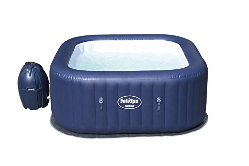 (Amazon) Bestway 60022E SaluSpa Hawaii 71-Inch x 26-Inch 6 Person Outdoor Inflatable Hot Tub Spa with Air Jets, Pump, 2 Filter Cartridges, and Tub Cover, Navy