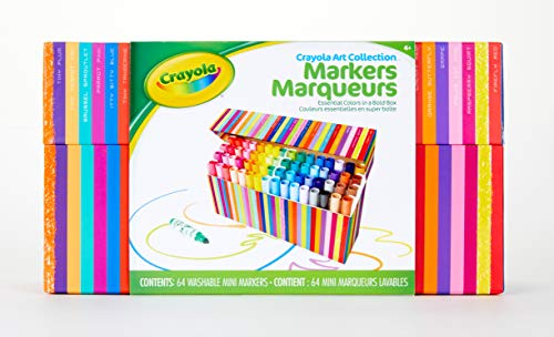 (Amazon) Crayola Pip Squeaks Marker Set, Washable Mini Markers, 64 Count, Gift for Kids
