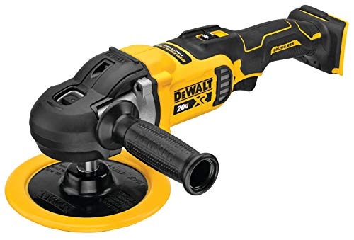 (Amazon) DEWALT 20V MAX XR Cordless Polisher, Rotary, Variable Speed, 7-Inch, 180 mm, Tool Only (DCM849B)