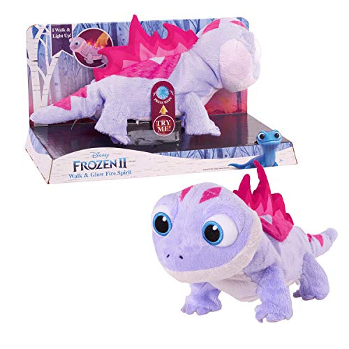 (Amazon) Disney Frozen 2 Walk & Glow Bruni The Salamander, Lights and Sounds Stuffed Animal by Just Play