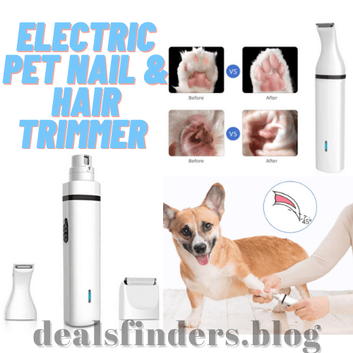 Amazon: Electric Pet Nail & Hair Trimmer for $8.99 (Reg. $29.99)