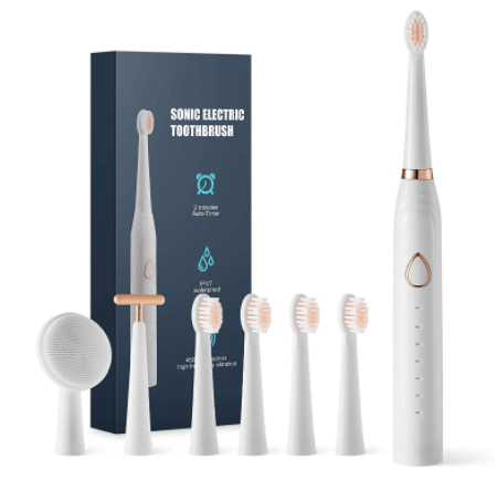 Amazon: Electric Toothbrush with 5 Dupont Brush Heads for $14.99 (Reg. $99.90)