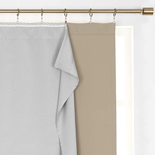 (Amazon) Elrene SunVeil Extra Wide Thermal Blackout Curtain Liner, 40″ x 80″ (1, Light Grey