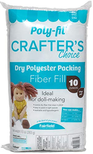 (Amazon) Fairfield CCDF10 Poly-Fil Crafter's Choice Dry Packing Fiber Fill 10 Ounce Bag