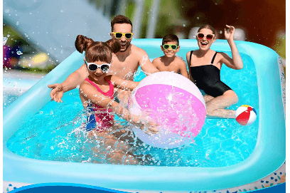 Amazon: Inflatable Swimming Pool with Sprinkler for $21.99 (Reg $70)