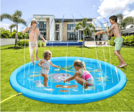 Amazon: Inflatable Water Toys and Splash Play Mat $3.50