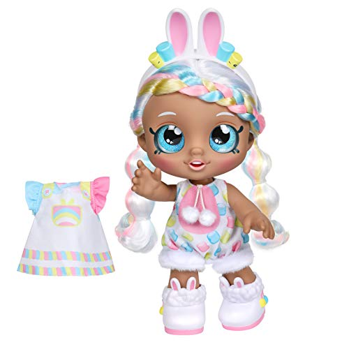 (Amazon) Kindi Kids Dress Up Friends – Pre-School Play Doll, Marsha Mello Bunny – for Ages 3+ | Changeable Clothes and Removable Shoes for Imaginative Kids – Doll Companion