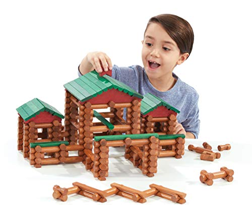(Amazon) LINCOLN LOGS – Classic Farmhouse – 268 Pieces – Real Wood Logs – Ages 3+ – Best Retro Building Gift Set for Boys/Girls – Creative Construction Engineering-Top Blocks Game Kit – Preschool Education Toy