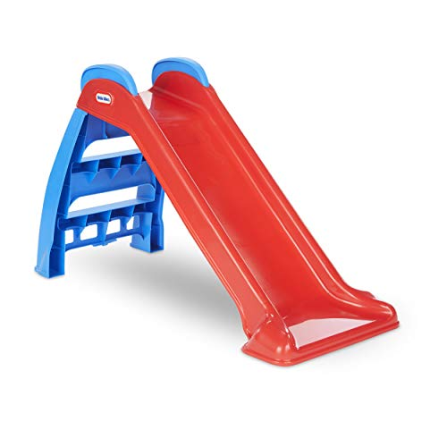 (Amazon) Little Tikes First Slide Toddler Slide, Easy Set Up Playset for Indoor Outdoor Backyard, Easy to Store, Safe Toy for Toddler, Slip And Slide For Kids (Red/Blue)