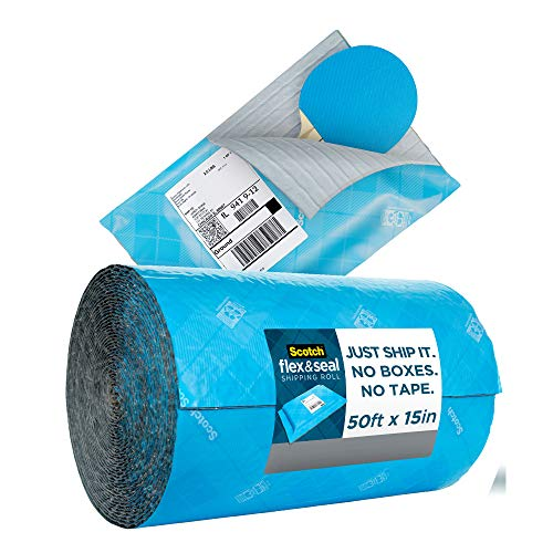 (Amazon) Scotch Flex and Seal Shipping Roll 50 ft x 15 in, Eliminates Time, Supplies, Waste & Space vs. Boxes, Easy Packaging Alternative to Poly Mailers (FS-1550)
