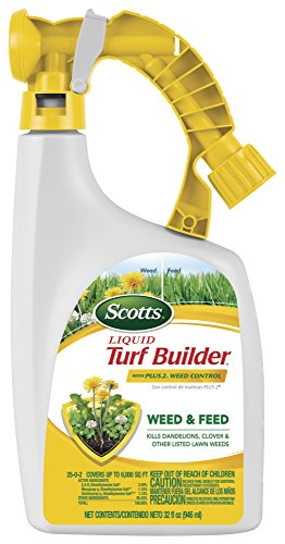 (Amazon) Scotts Liquid Turf Builder with Plus 2 Weed Control Fertilizer, 32 fl. oz. – Weed and Feed – Kills Dandelions, Clover and Other Listed Lawn Weeds – Covers up to 6,000 sq. ft.