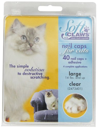 (Amazon) Soft Claws Cat Nail Caps Take-Home Kit, Large, Clear
