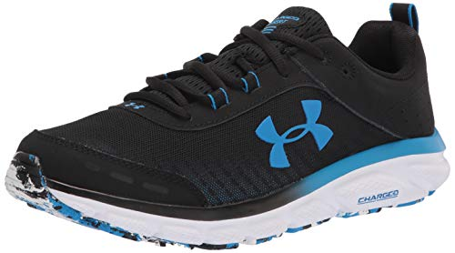 (Amazon) Under Armour mens Charged Assert 8 Running Shoe, Black/White, 9.5 X-Wide US
