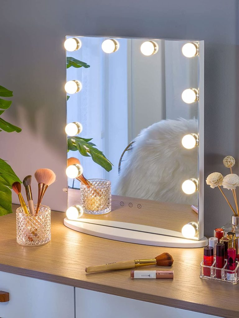 Amazon: Vanity Tabletop Hollywood Makeup Mirror w/ USB-powered Dimmable Light Just $58 (Reg. $103.80)