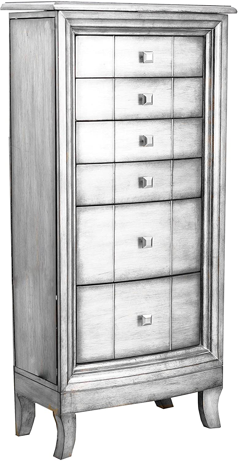 Hives & Honey Natalie Standing Jewelry Armoire – Antiqued Silver (Walmart)