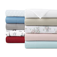 Home Expressions Microfiber Plus Easy Care Wrinkle Resistant Sheet (JCPenney)