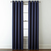 JCPenney Home Kathryn Grommet-Top Single Curtain Panel (JCPenney)