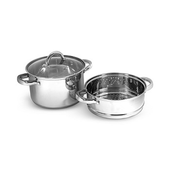 Sedona Stainless Steel 4-Quart Multi Cooker with Glass Lid & Steam Tray for $9.99