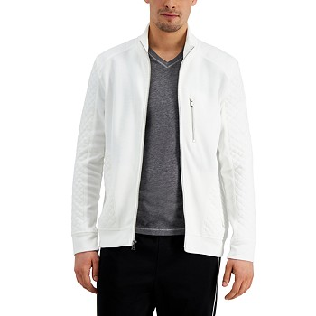 INC International Concepts Men's Quilted Rib Knit Jacket for $21.93