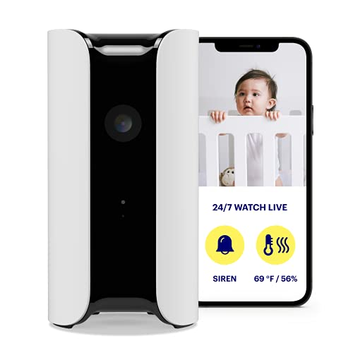 (Amazon) Canary Pro Indoor Home Security Camera with Premium Service (1 YR Free Incl.) 90dB Siren, Climate Monitor, 2-Way Talk, 30-Day Video History, Motion Detection, 1080p HD, Alexa, Google, Baby Monitor, White (CAN100USWT)