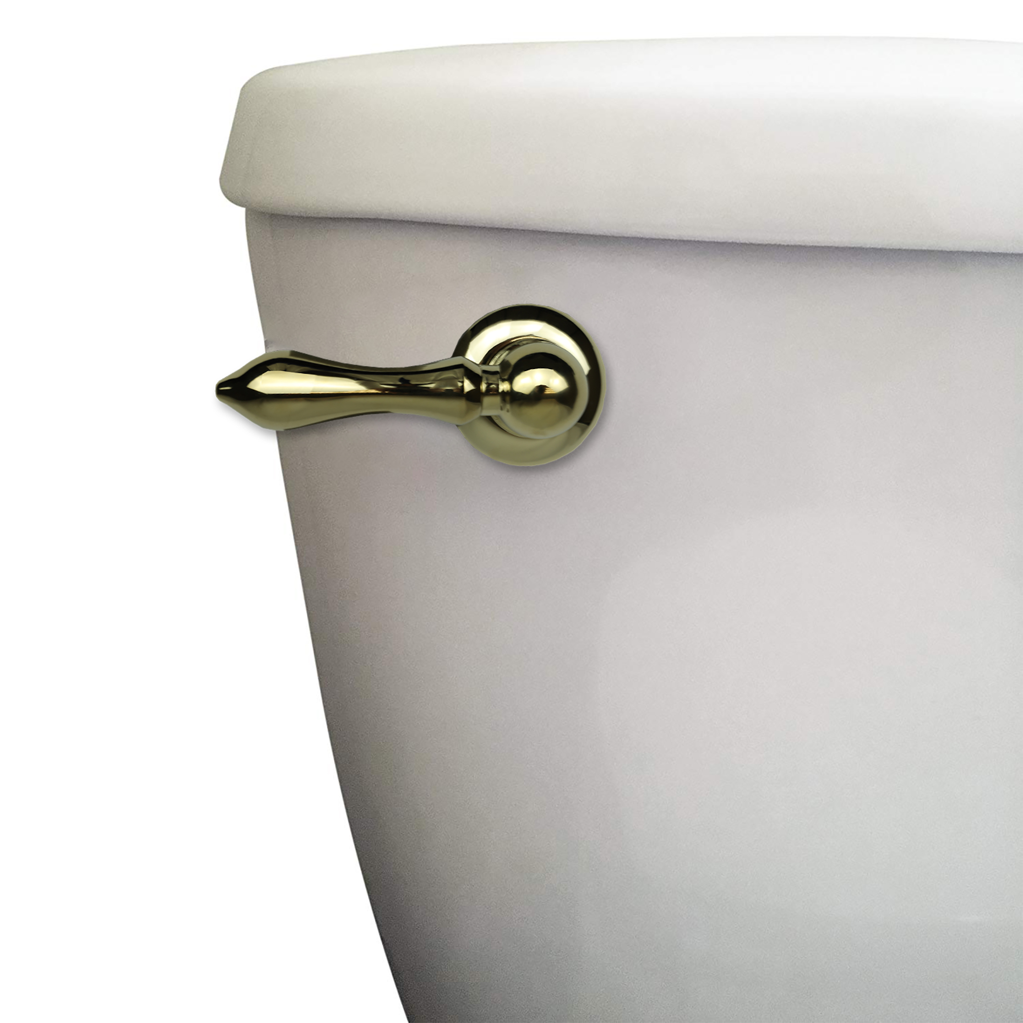 DANCO Decorative Front Mount Toilet Tank Handle Replacement, Polished Brass (89451A) (Walmart)