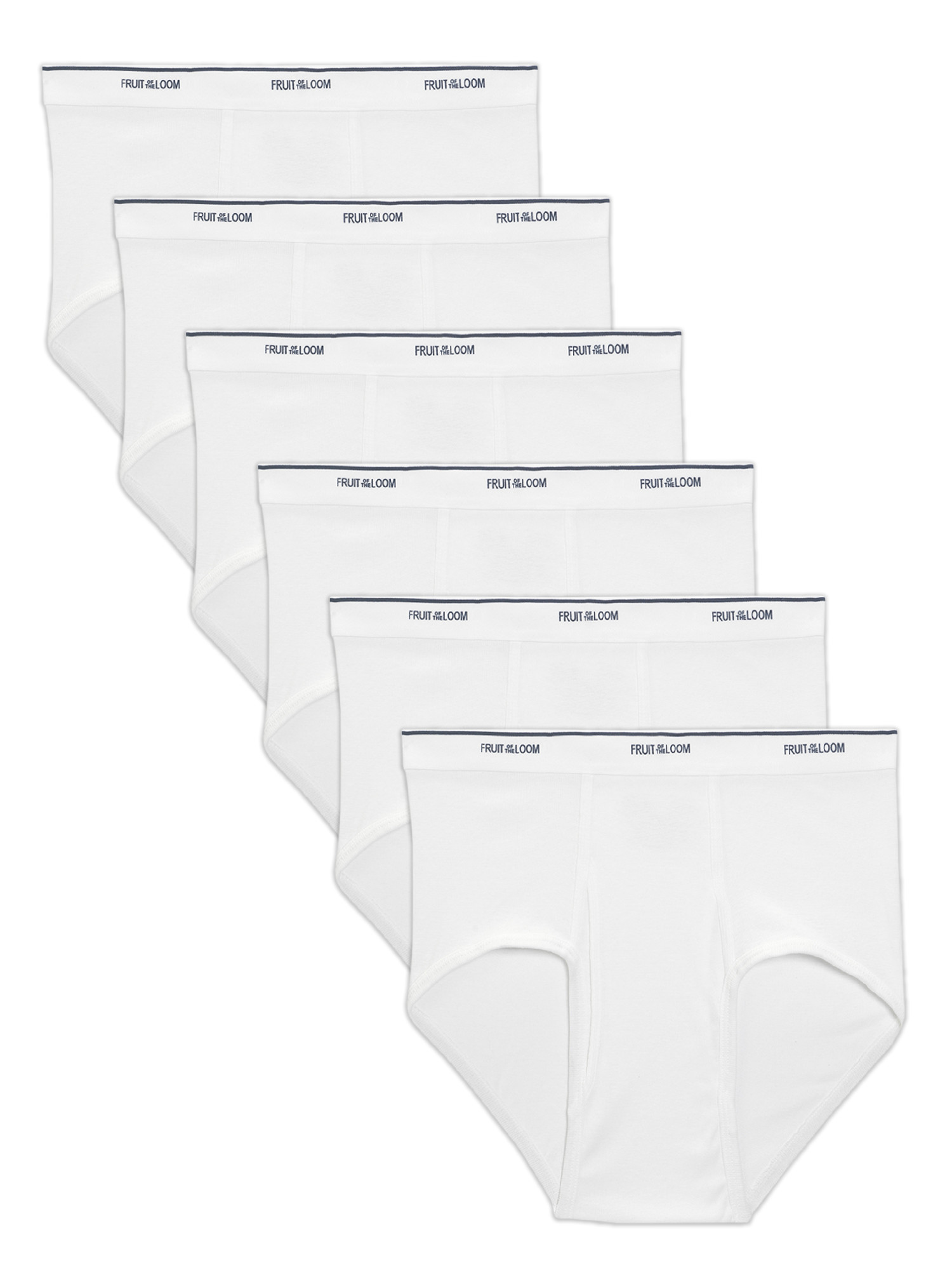 Fruit of the Loom Big Men's Classic White Briefs, 6 Pack (Walmart)