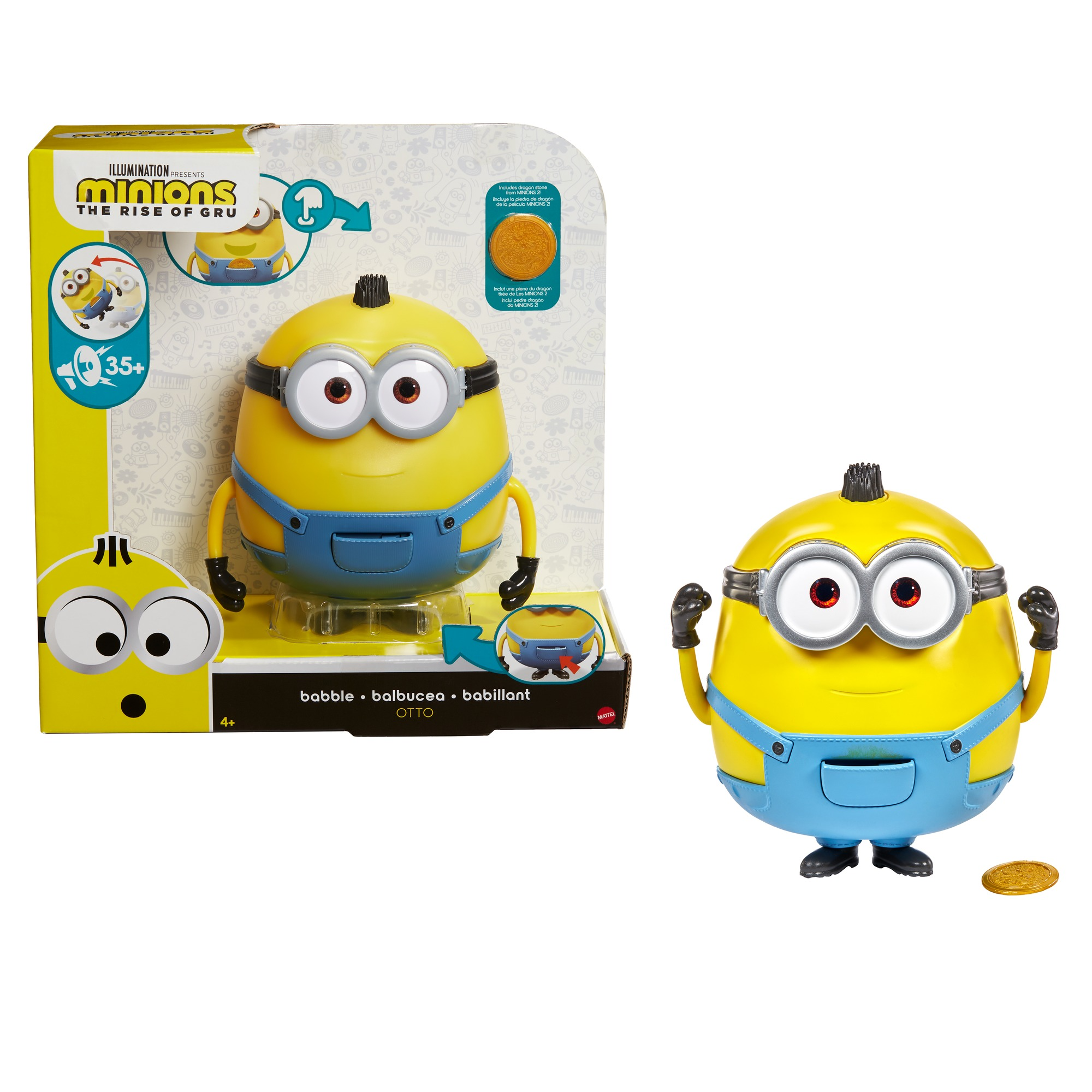 Minions: The Rise of Gru Babble Otto Large Interactive Toy For Kids Ages 4 Years & Up (Walmart)