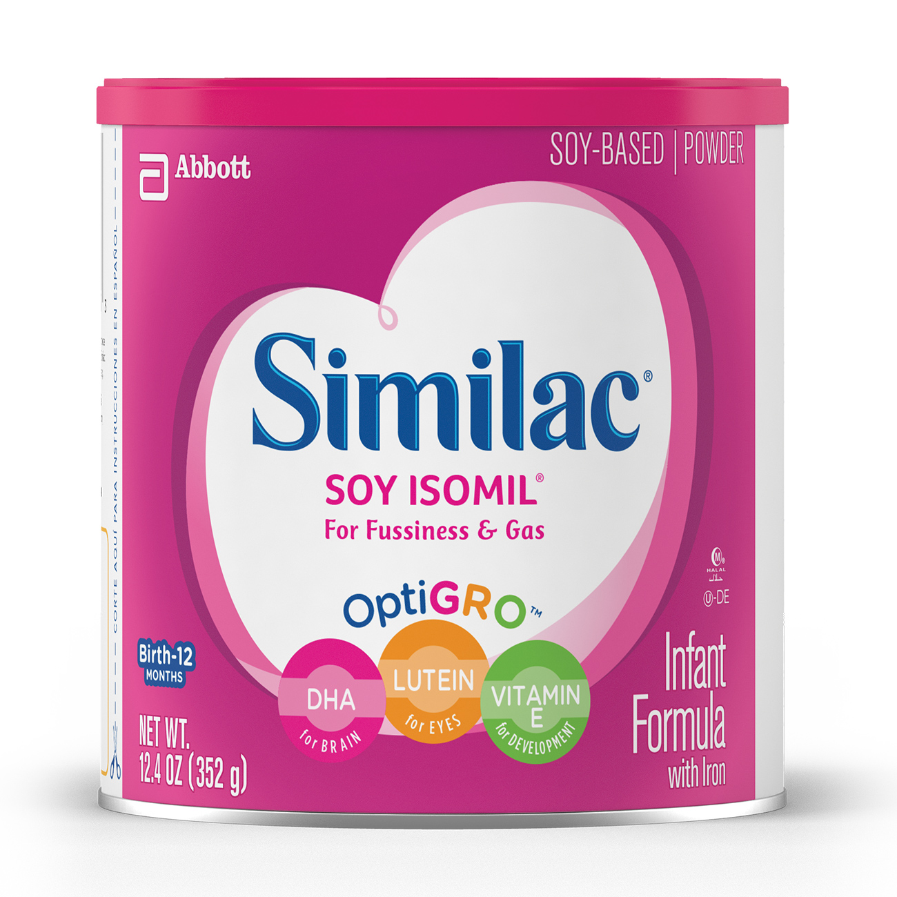 Similac Soy Isomil Baby Formula For Fussiness and Gas, 6 Count Powder, 12.4-oz Can (Walmart)