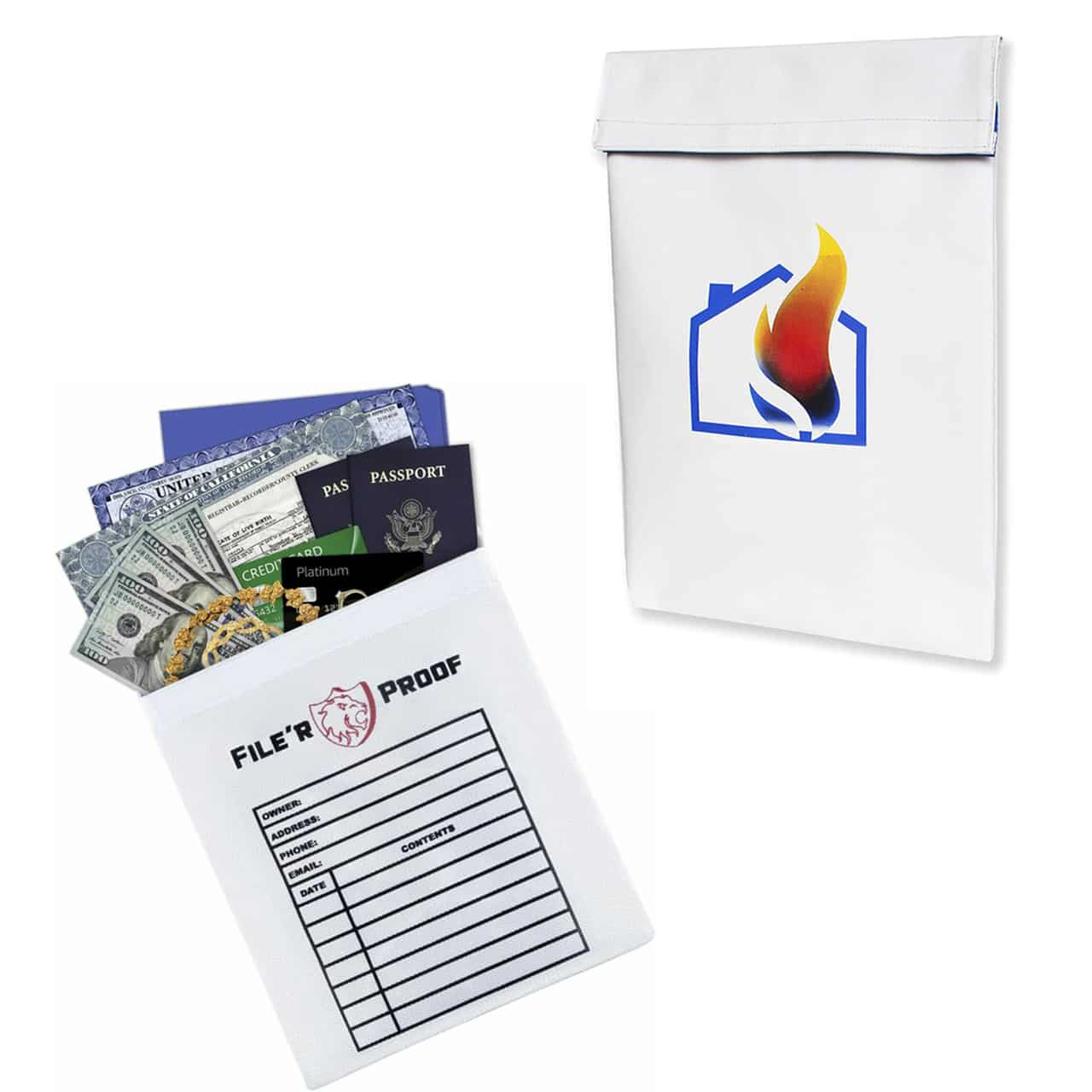 16″ x12″ Silicone Coated Fireproof Document Bag for $14.99 (Reg. $29.99)