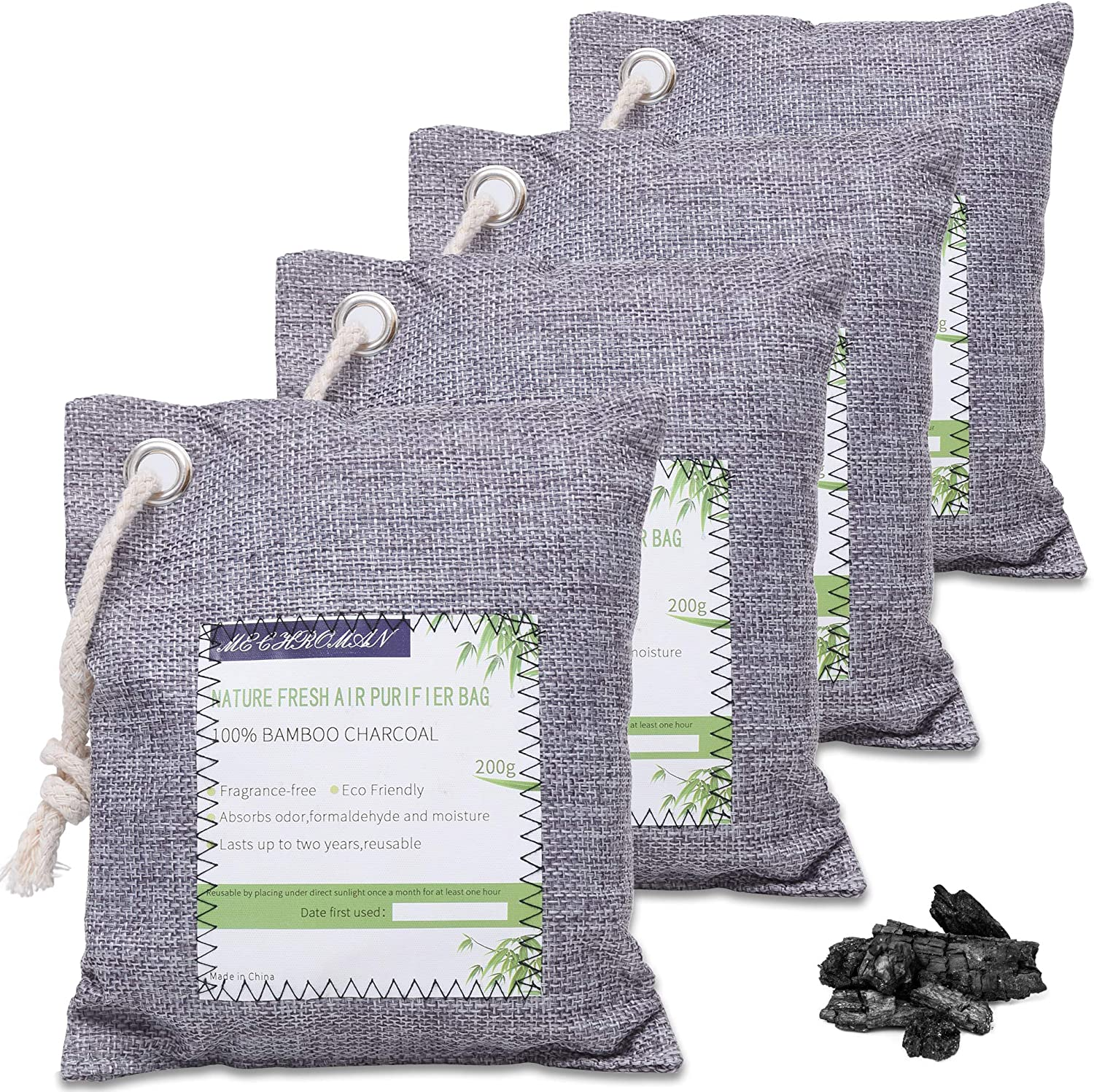 4 Pack of 200g Charcoal Air Purifying Bags Just $9.99 (Reg. $19.99)