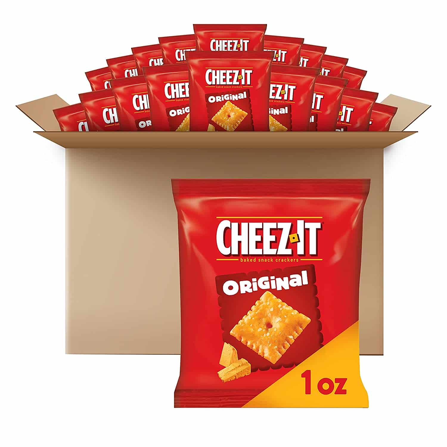 Amazon: 40-Pack Cheez-It Baked Snack Cheese Crackers, Original for $9.50 (Reg. $13.76)