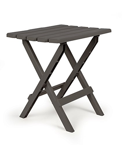 (Amazon) Camco 51885 Charcoal Large Adirondack Portable Outdoor Folding Side Table, Perfect for The Beach, Camping, Picnics, Cookouts & More, Weatherproof & Rust Resistant