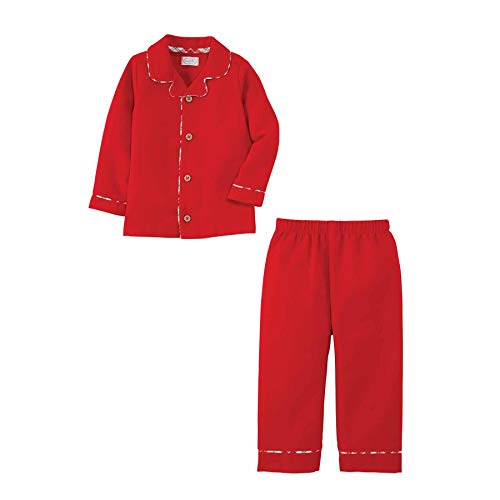 (Amazon) Mud Pie Baby Boys' Long Sleeve, Red, 24 Months/2 Toddler-3 Toddler