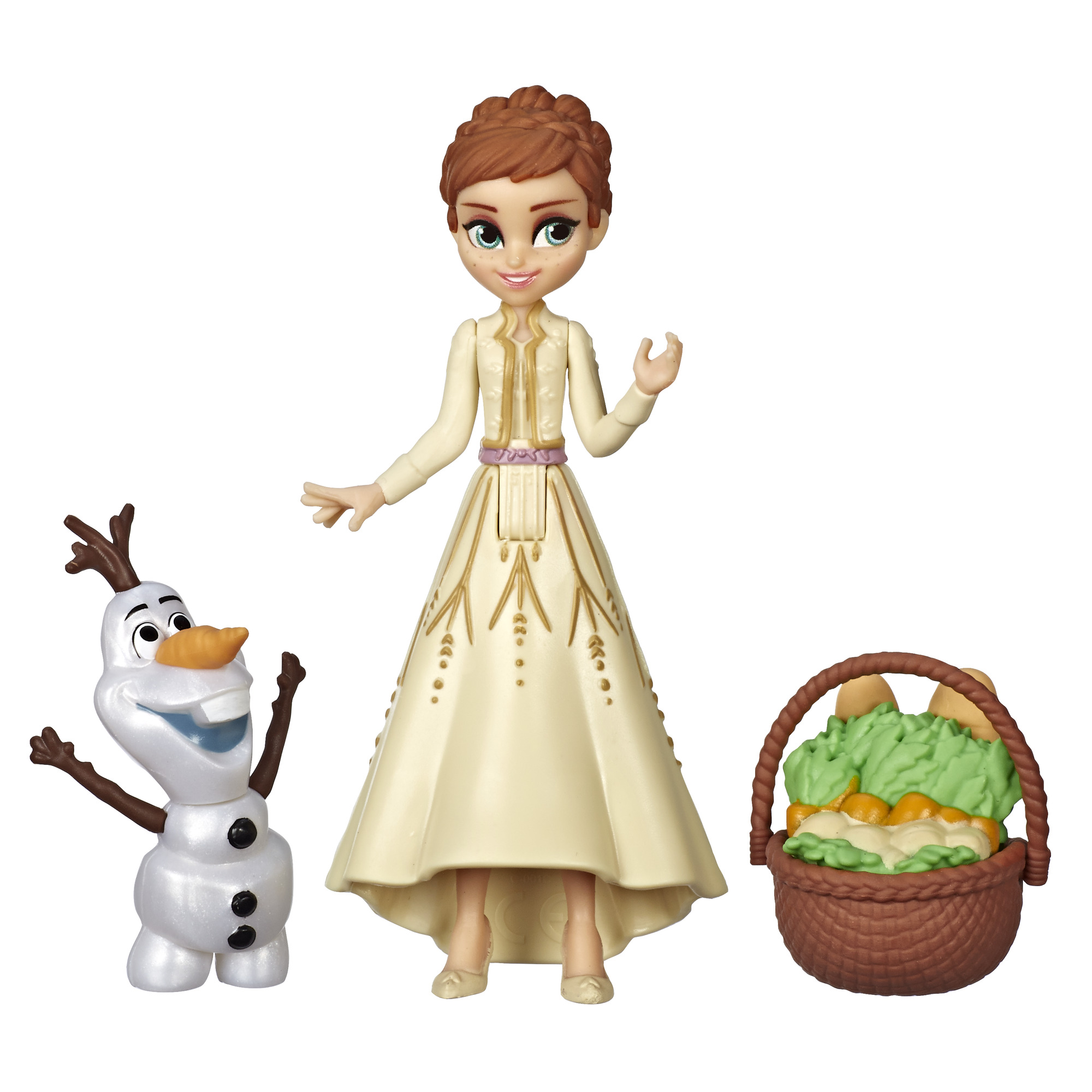 DIsney Frozen 2 Anna and Olaf Small Doll Playset with Travel Basket Accessory (Walmart)